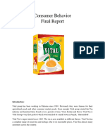 Consumer Behaviour Vital Tea