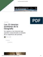 QUE ES LA GEOGRAFIA Y Las 12 ciencias auxiliares de la Geografía.pdf