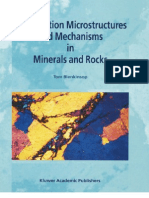 Deformation Micro Structures and Mechanisms in Minerals and Rocks