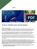 15 libros infantiles para mini-feministas – Un Pastiche