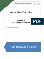UND II - JUROS SIMPLES E COMPOSTOS