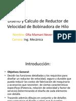 Diseño y Calculo de Reductor de Velocidad de
