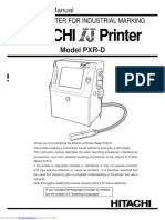 Hitachi PXR-D Instruction Manual