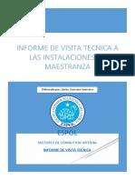 Informe técnico de la visita a las instalaciones de Maestranza