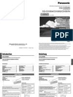 Manuale Panasonic Autoradio