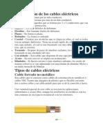 Clasificación de los cables eléctricos