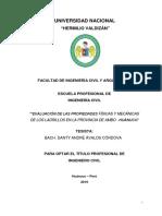 EVALUACIÓN DE LAS PROPIEDADES FÍSICAS Y MECÁNICAS DE LOS LADRILLOS EN LA PROVINCIA DE AMBO-HUÁNUCO