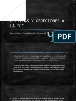 CRITICAS Y OBJECIONES A LA TCC