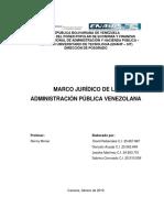 Marco jurídico de la administración pública venezolana