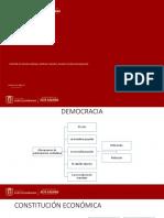 Mecanismos democráticos, función pública y ramas del poder.