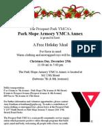YMCA Christmas Dinner Flyer