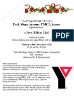 YMCA Christmas Dinner Flyer