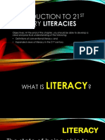 Introduction to 21st century Literacies