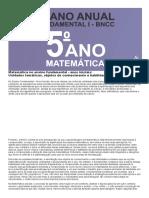 Planejamento Anual de matemática 5 ano do fundamental de acordo com a BNCC 2020