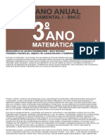 Planejamento Anual de matemática 3 ano do fundamental de acordo com a BNCC 2020