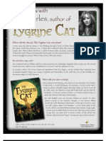 The Tygrine Cat by Inbali Iserles - Q&A with Author