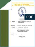 TRABAJO N°2 DE PRODUCTIVIDAD Y CALIDAD EN LA CONSTRUCCIÓN