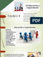 3.4 Educación y capacitación
