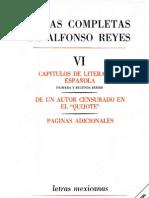 Alfonso Reyes. Obras Completas VI