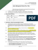 Procedure - Management Review