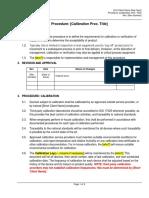 Procedure - Calibration.docx