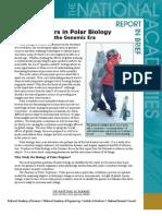 Frontiers in Polar Biology in the Genomic Era, Report in Brief