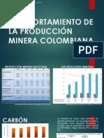 COMPORTAMIENTO DE LA PRODUCCIÓN MINERA COLOMBIANA