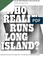 Who Really Runs Long Island