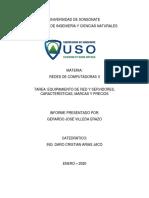 EQUIPAMIENTO DE RED Y SERVIDORES CARACTERÍSTICAS MARCAS Y PRECIOS