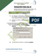 CONFIGURACION PARA SQL 3