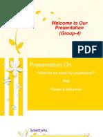 Presentation on Power & Influence