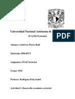 Actividad 3 Desarrollo economico sectorial