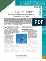 Hidden Costs of Energy, Report in Brief