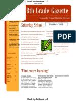 8th Grade Newsletter 01