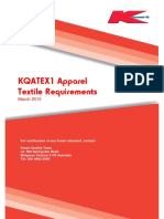 KQATEX1 Apparel Textile Requirements 150310