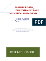 Literature Review, Theoretical Framework, Conceptual Framework and Hypothesis