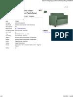 STRAMM Sofa Tamu 2 Seat - Kursal WL 2 Seater (Fabric-Oscar)