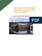 ETIMOLOGIA RIOS  DE LA PROVINCIA DE CÁCERES