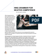 Teaching Grammar in Communicative Competence