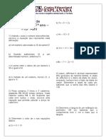 MATEMATICA (ALINI 701 e 703) - Exercícios de recuperação 7º ano - 4º bim