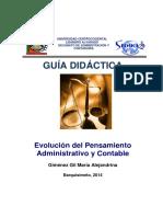 EVOLUCION DEL PENSAMIENTO ADMINISTRATIVOGuia Didactica Unidad VIII Actualizada 2014