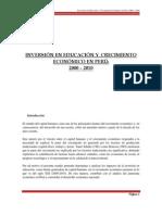 Inversion en Educacion y Crecimiento Economico en Perú