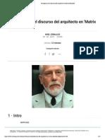 Te explicamos el discurso del arquitecto en 'Matrix Reloaded'