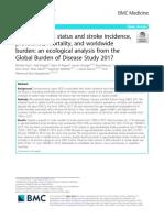 Socioeconomic status and stroke incidence, prevalence, mortality, and worldwide burden