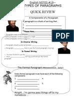 080122 Paragraph Review4 Flexible Paragraph