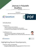 New Advances in Polyolefin Modifiers
