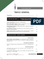 Índice general de La Revista  Actualidad Penal N.° 68