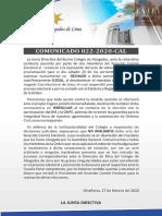 Comunicado 022-2020-CAL