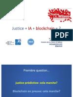Justice IA et Blockchain