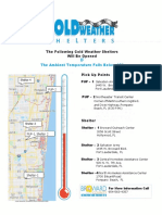 Cold Weather Shelter Map for Broward County